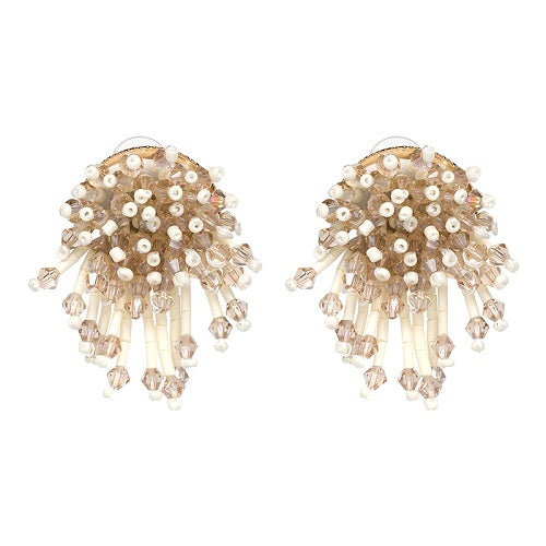 Crystal beads tassel earrings - wearevel