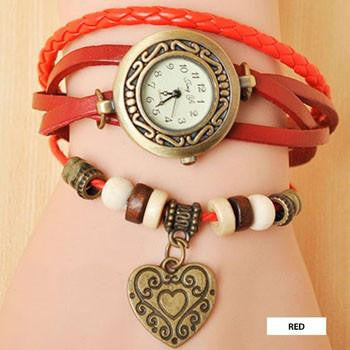 Heart Vintage Wrap Watch - wearevel