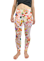 White Legging with Abstract Floral Print - wearevel
