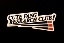 Load image into Gallery viewer, (Omaju) Cute Fang Research Club! PVC Patch