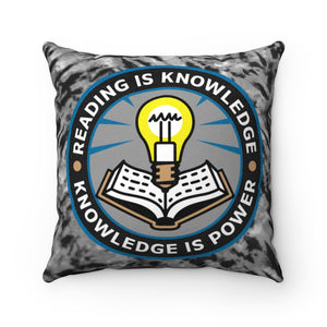 READ Movement - Reading is Knowledge - Faux Suede Square Throw Pillow