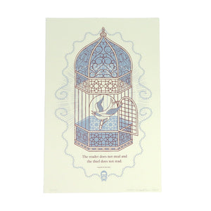 READ Movement - Birdcage - 13 inch x 19 inch Hand Printed Screen Print Art Poster