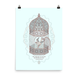READ Movement - Birdcage - 18 inch x 24 inch Art Print Poster