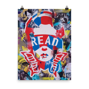 READ Movement - Collage Logo - 18 inch x 24 inch Art Print Poster