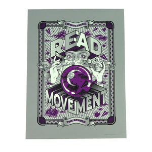 READ Movement - Fortune Favours The Reader - 19 inch x 25 inch Hand Printed Screen Print Art Poster