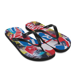 READ Movement - Collage Logo - Flip-Flops Sandals