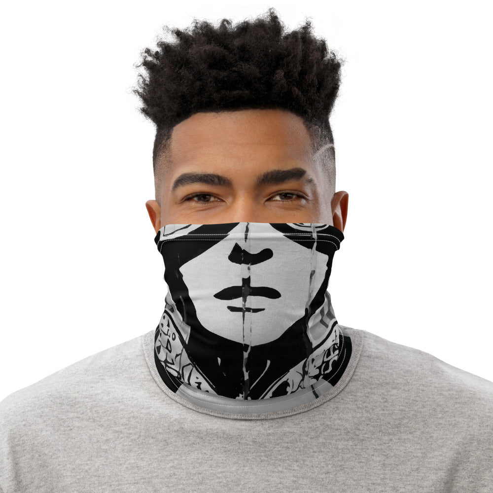 Read Movement - Black and White Wheatpaste - Neck Gaiter