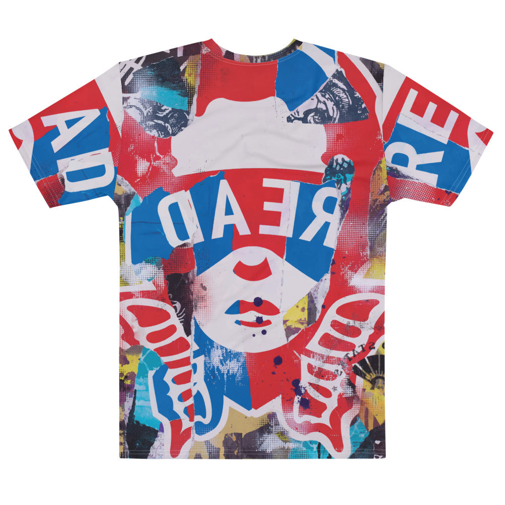 READ Movement - Red, White, & Blue Collage - Men's T-Shirt