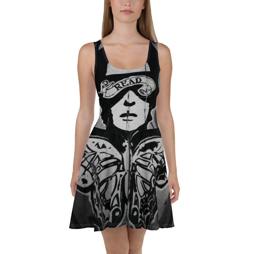 READ Movement - Wheatpaste All-Over Print - Womens Skater Dress