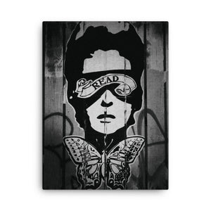READ Movement - Black and White Wheatpaste - Digital Print on Canvas