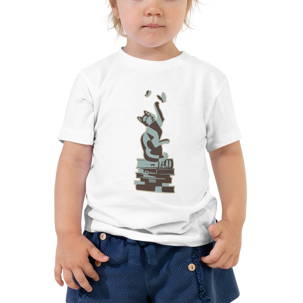 READ Movement - Kitty Fiction - Toddler Short Sleeve T-Shirt