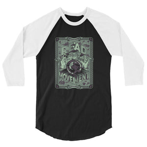 READ Movement - Fortune Favours The Reader - Men's 3/4 Sleeve Raglan T-Shirt