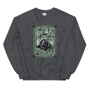 READ Movement - Fortune Favours The Reader - Men's Crewneck Sweatshirt