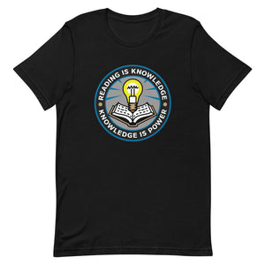 READ Movement - Reading is Knowledge - Men's Short Sleeve T-Shirt