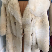 Load image into Gallery viewer, Vintage White Rabbit Fur Coat
