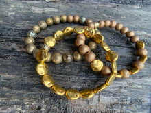 Load image into Gallery viewer, Golden Wood Beaded Bracelet