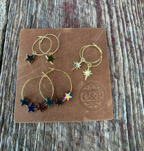 Load image into Gallery viewer, Shining Star Hoop Earrings