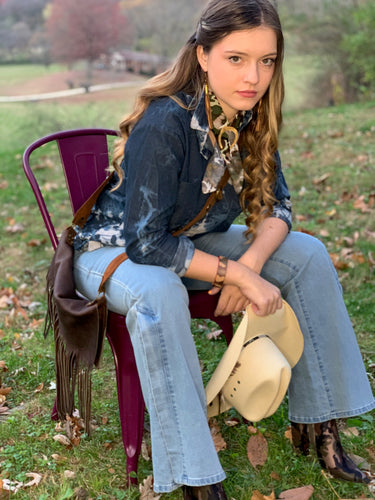 Distressed Denim Shirtdress