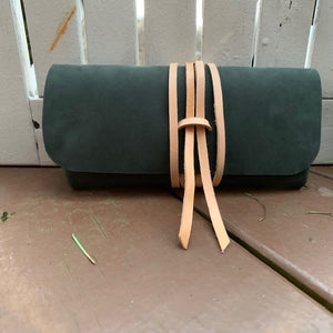 """The Priscilla"" in Nubuk Green Leather"