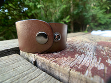 "Load image into Gallery viewer, ""Dirty Rip"" Leather Cuff"