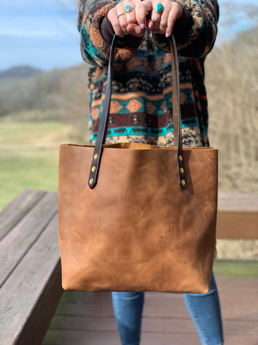Big Mama Tote in Rustic Brown Denver Leather