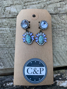 Sparkling Turquoise Earrings