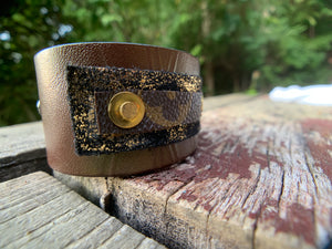 """Dirty Rip"" Leather Cuff"