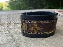 "Load image into Gallery viewer, ""Disco Days"" Leather Cuff"