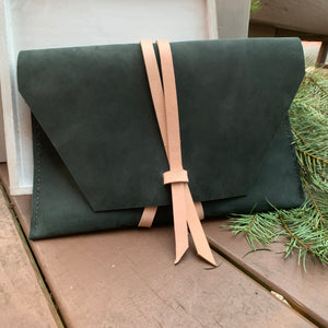 """The Carl"" in Nubuk Green Leather"