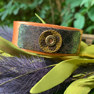 """Copper Fox"" Leather Cuff"