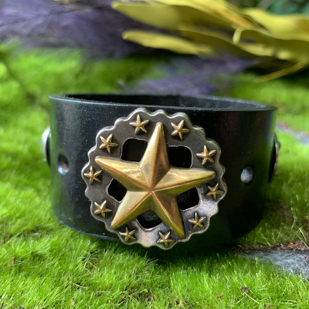 """Tennessee Star"" Leather Cuff"