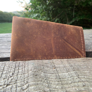 """Sideways"" Leather Card Case"
