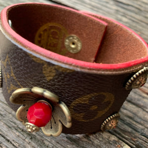 """Deborah Lynn"" Vintage Louis Vuitton Leather Cuff"