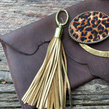 Load image into Gallery viewer, Metallic Leather Bag Tassels
