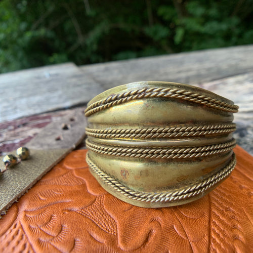 Private Collection Vintage Brass Cuff