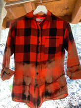 Load image into Gallery viewer, C&P Distressed Flannel - Red & Black