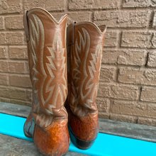 Load image into Gallery viewer, Men's Vintage Cognac Justin Pull-On Cowboy Boots