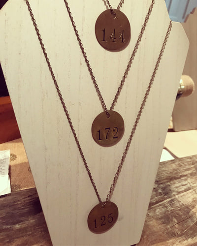 The Brass Tag Collection - Necklace #145