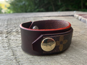 """The Red Hot"" Leather Cuff"