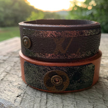 "Load image into Gallery viewer, ""Disco Nights"" Leather Cuff"