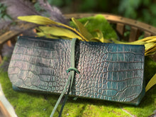 "Load image into Gallery viewer, ""The Priscilla"" Custom Dyed Crocodile Embossed Leather"