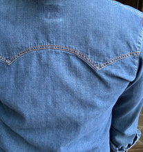 Load image into Gallery viewer, Vintage Denim Pearl Snap Shirt