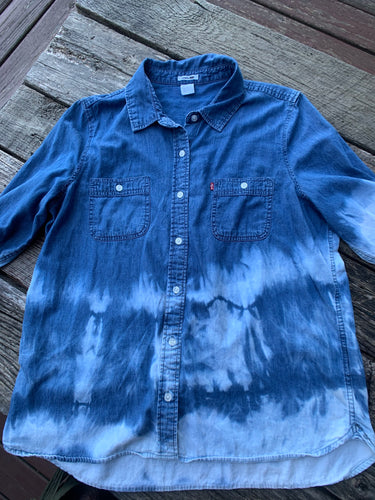 Vintage Lee Denim Distressed Shirt