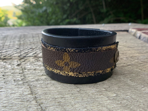 """Disco Days"" Leather Cuff"