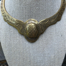Load image into Gallery viewer, Private Collection Vintage Brass Collar Necklace