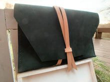 "Load image into Gallery viewer, ""The Carl"" in Nubuk Green Leather"