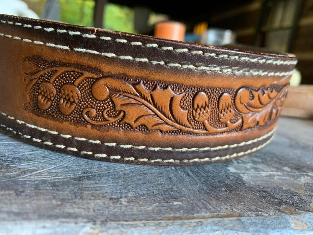"""Ronnie"" Vintage Western Snap-Back Belt"