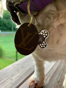 """The Stella"" Vintage Louis Vuitton Dog Charm"