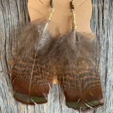 Load image into Gallery viewer, Tennessee Turkey Feather Earrings