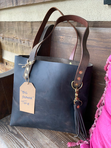 """The Big Mama Tote"" in Espresso Oil Tanned Leather"